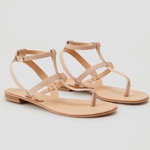 LOFT tan strappy thong sandals, Sz. 9